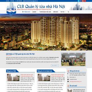 Mẫu Website Câu Lạc Bộ Quản Lý Tòa Nhà WBT1344