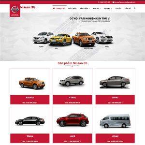 Mẫu Website Bán ô Tô Nissan 3s WBT1352