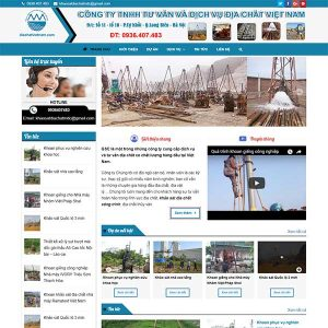 Mẫu Website Dịch Vụ địa Chất Việt Nam WBT1350
