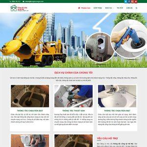 Mẫu Website Thông Tắc Cống Hút Bể Phốt WBT1342