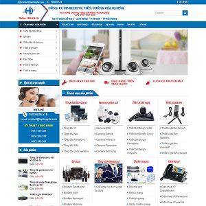 Mẫu Website Dịch Vụ Viễn Thông Hải Dương WBT1345