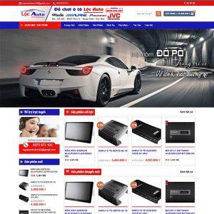 Mẫu Website đồ Chơi ô Tô Lộc Auto WBT1348