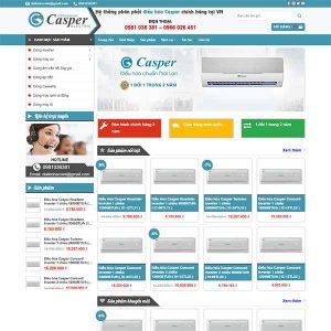 Mẫu Website Phân Phối điều Hòa Chính Hãng Casper WBT1354