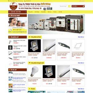 Mẫu Website Bán Thiết Bị điện Quốc Cường WBT1349
