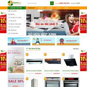 Mẫu Website Thiết Bị Nhà Bếp Thông Minh Home Sun WBT1343