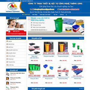 Mẫu Website Thiết Bị Vật Tư Thăng Long WBT1346