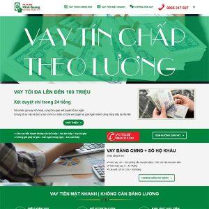 Mẫu Website Vay Tín Chấp Quang Minh WBT1353