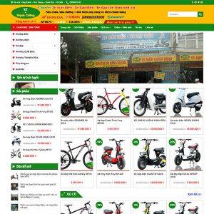 Mẫu Website Xe đạp điện – Xe Máy điện Mạnh Cường WBT1351