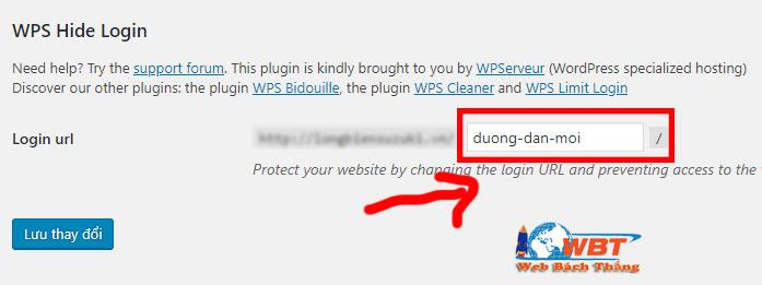 Thay đổi đường dẫn wp-admin trong wordpress