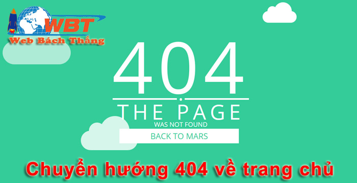 code 404 về trang chủ