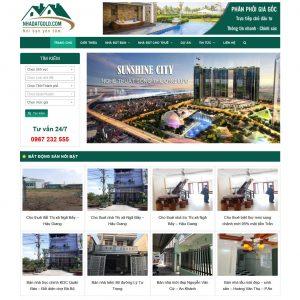 Mẫu Website Bất động Sản Nhiều Dự án Nhà Đất Gold WBT199