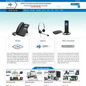 Mẫu Website Lắp Tổng đài điện Thoại TID WBT1357