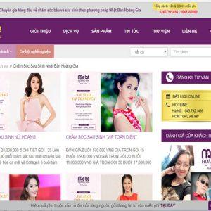 Thiết Kế Website Dịch Vụ Sau Sinh Chất Lượng Chuyên Nghiệp