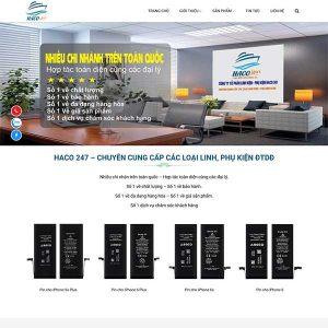 Mẫu Website Công Ty Sản Xuất Linh Phụ Kiện điện Thoại WBT206