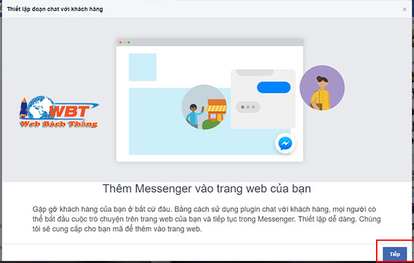 Tích hợp Chat Facebook đơn giản