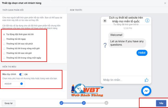Hướng dẫn tích hợp Chat Facebook cho website