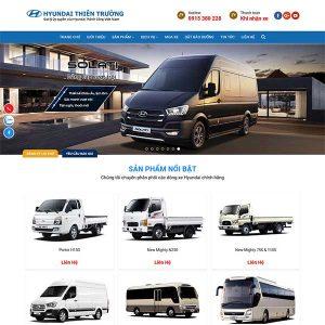 Mẫu Website Bán ô Tô WBT208