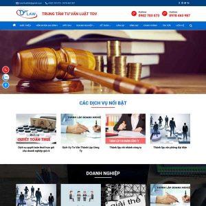 Mẫu Website Công Ty Luật, Trung Tâm Tư Vấn Luật WBT209