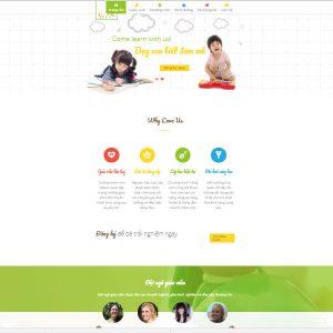 Mẫu Website Trường Mầm Non WBT1372