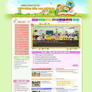 Mẫu Website Trường Mầm Non WBT1373