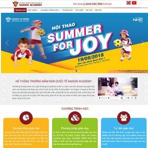 Mẫu Website Trường Mầm Non WBT1376