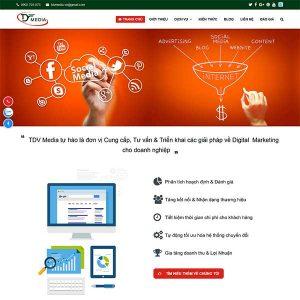 Mẫu Website Dịch Vụ Công Ty Truyền Thông WBT205