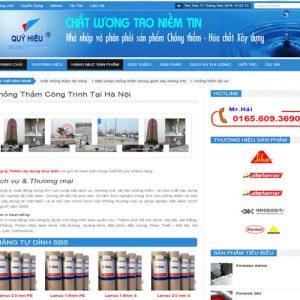 Thiết Kế Website Dịch Vụ Chống Thấm Uy Tín Và Chuyên Nghiệp