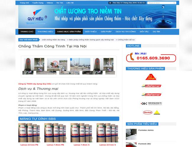 Thiết Kế Website Dịch Vụ Chống Thấm đẹp, Uy Tín Và Chuyên Nghiệp