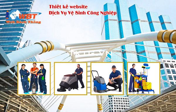 Thiết kế website dịch vụ vệ sinh công nghiệp giá tốt chuyên nghiệp