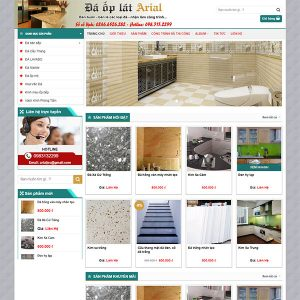 Mẫu Website đá ốp Lát Arial WBT1386