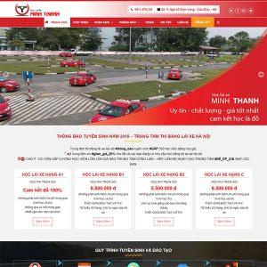 Mẫu Website Học Lái Xe Minh Thanh WBT1387