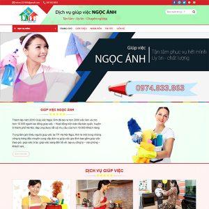 Mẫu Website Giúp Việc Ngọc Anh WBT1377