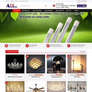Mẫu Website Thế Giới đèn Đạt Phượng 1379