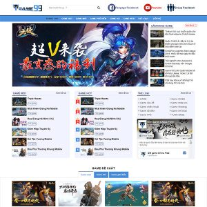 Mẫu Website Giới Thiệu Game, Tải Game TMgame99 WBT1381