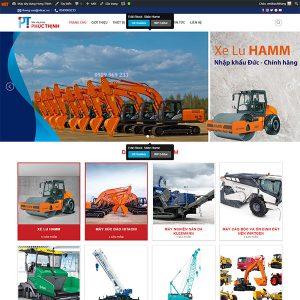 Mẫu Website Máy Xây Dựng Phúc Thịnh  WBT1382