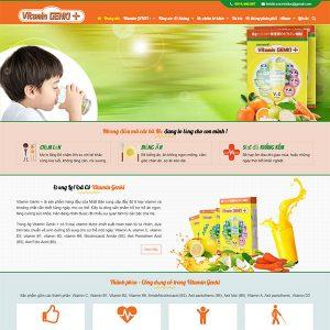 Mẫu Website Vitamin GENKI+  WBT1384