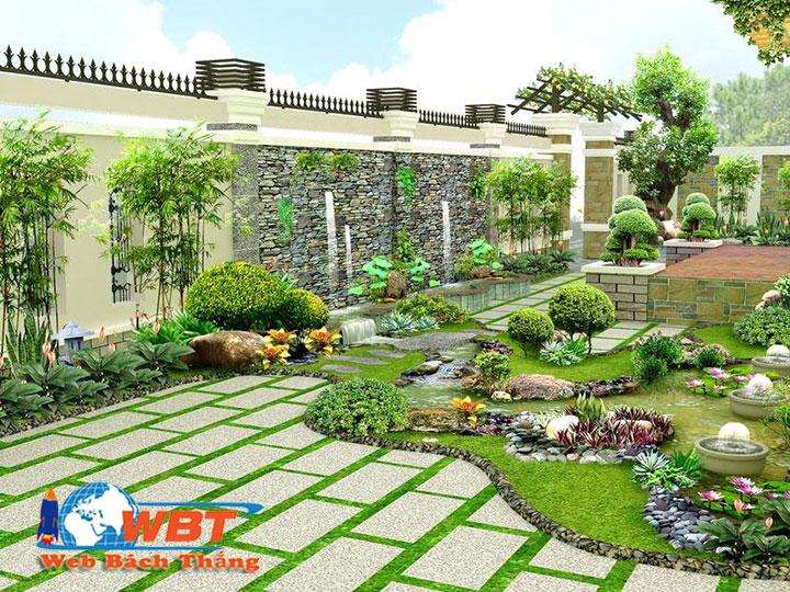 thiết kế website dịch vụ chăm sóc cảnh quan cây cảnh sân vườn trong nhà đẹp uy tín