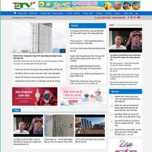 Mẫu Website Tin Tức Truyền Thông WBT215