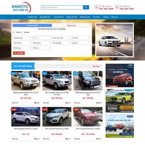 Mẫu Website Mua Bán ô Tô Cũ Mới WBT216