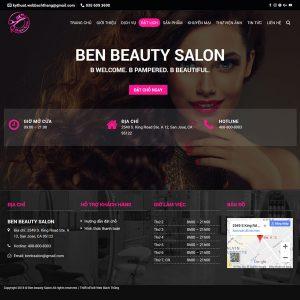 Mẫu Website Slon Tóc, Spa, Làm đẹp WBT218