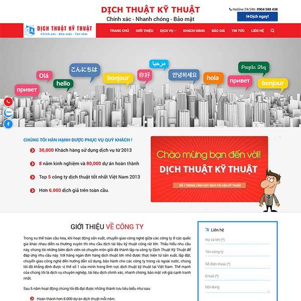 Mẫu website dịch thuật công chứng TKW217