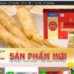 Thiết Kế Website Bán Nhân Sâm Linh Chi Uy Tín Chất Lượng