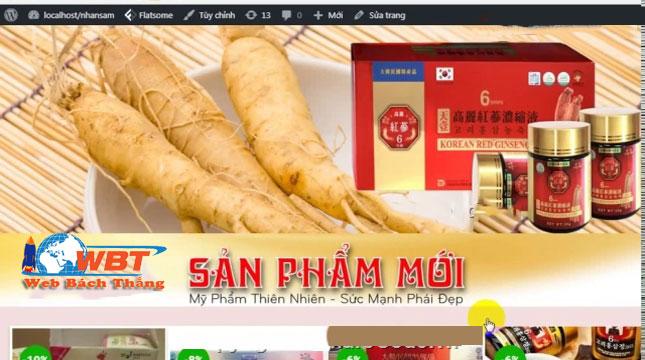 Thiết kế website bán nhân Sâm đẹp uy tín chất lượng