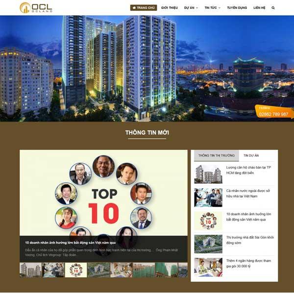 Mẫu website bất động sản giới thiệu nhiều dự án TKW223