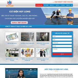 Mẫu Website Giới Thiệu Công Ty Cơ điện WBT222