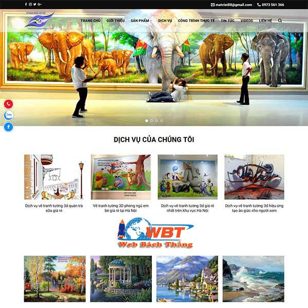 Dịch vụ thiết kế website vẽ tranh tường 3d chuyên nghiệp