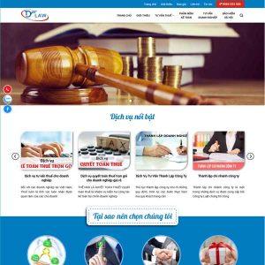 Mẫu Website Dịch Vụ Tư Vấn Luât, Tư Vấn Kế Toán WBT220