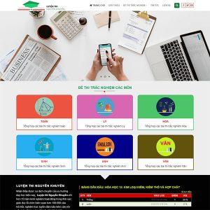 Mẫu Website Thi Trắc Nghiệm WBT1396