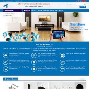Mẫu Website Thiết Bị Nhà Thông Minh WBT1398