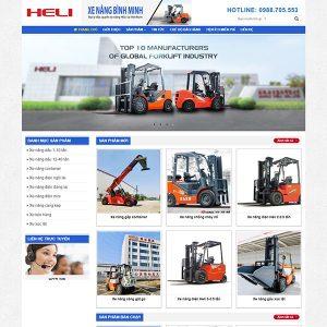 Mẫu Website Xe Nâng HELI WBT1399